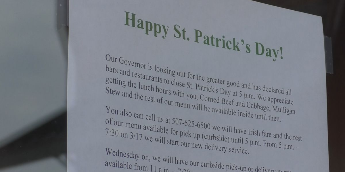 Partial closures on bars and restaurants goes into effect; Pub 500 one of many still delivering