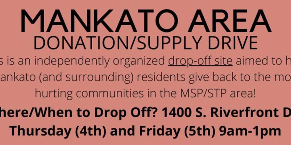 Mankato Area Donation/Supply Drive collecting donations