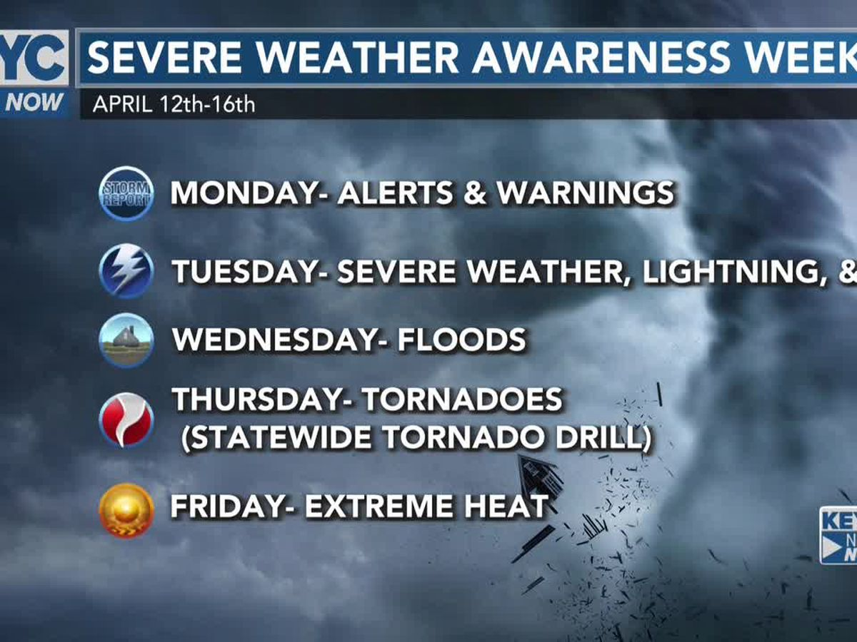 Severe Weather Awareness Week: Alerts and Warnings