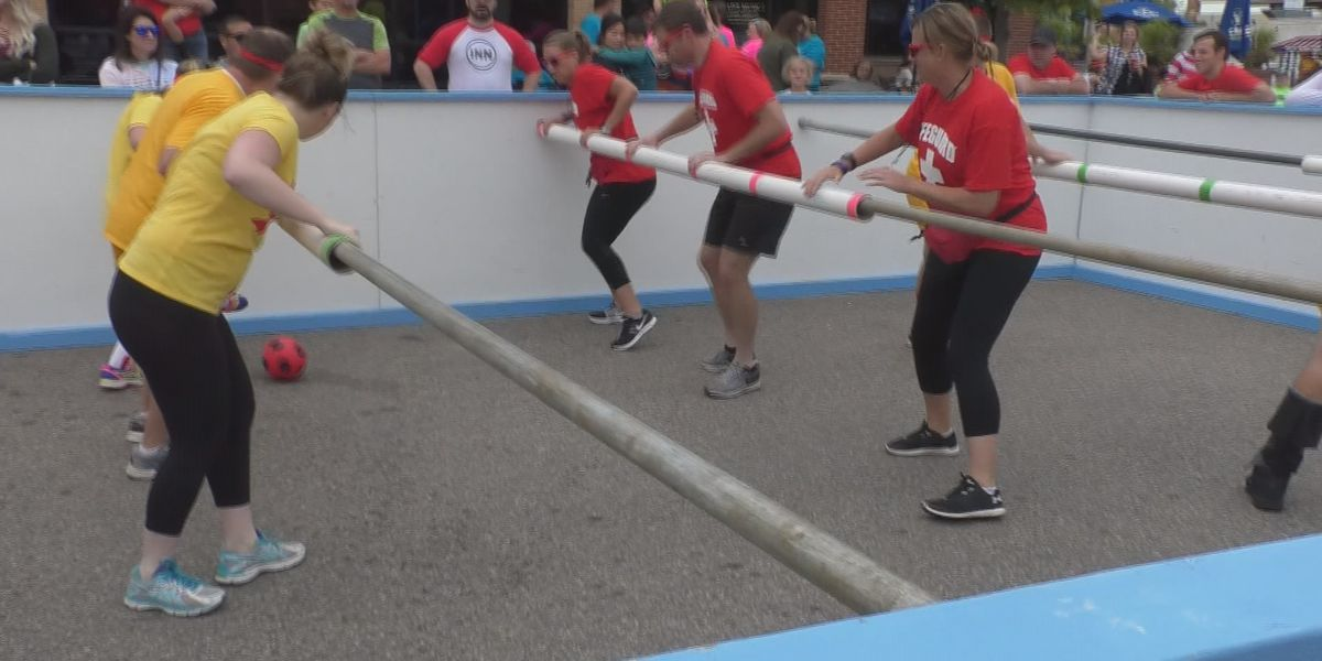 Greater Mankato United Way holds human foosball tournament
