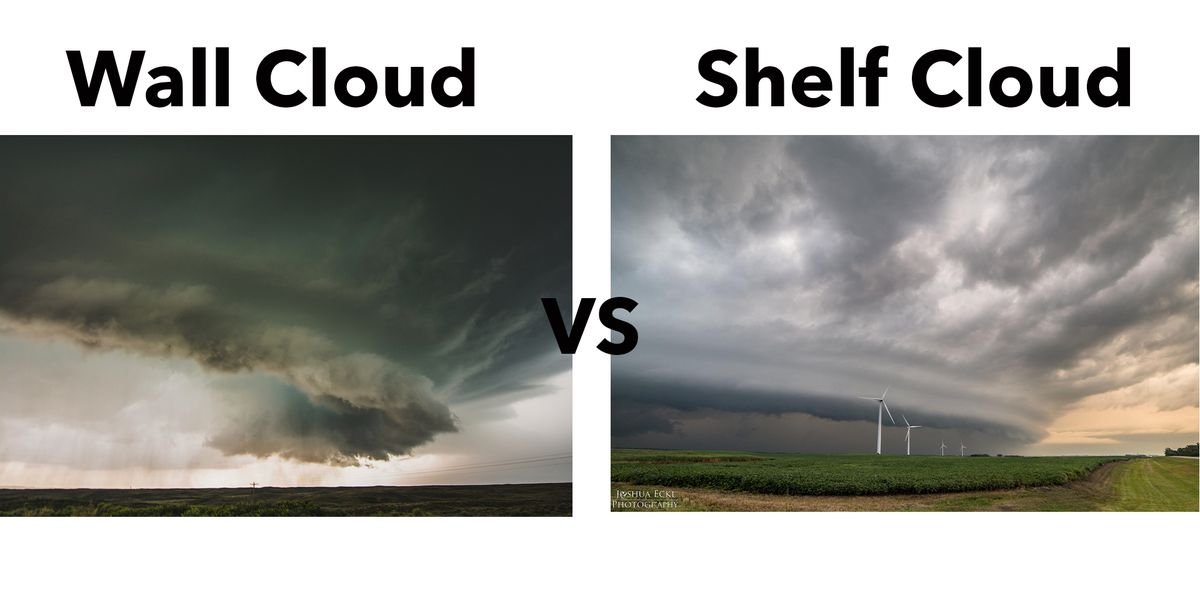 The difference between a Shelf Cloud and a Wall Cloud