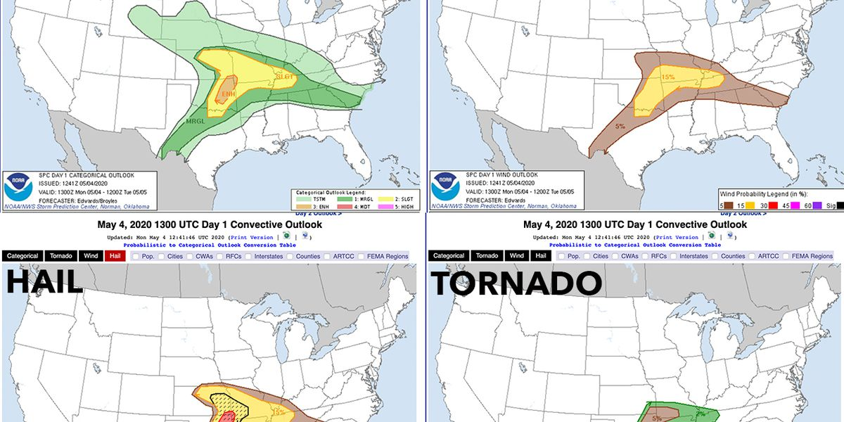 Another round of severe weather expected across the Central Plains today, May 4th