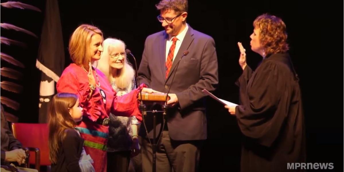 Lt. Gov. Peggy Flanagan receives Native American Leadership Award