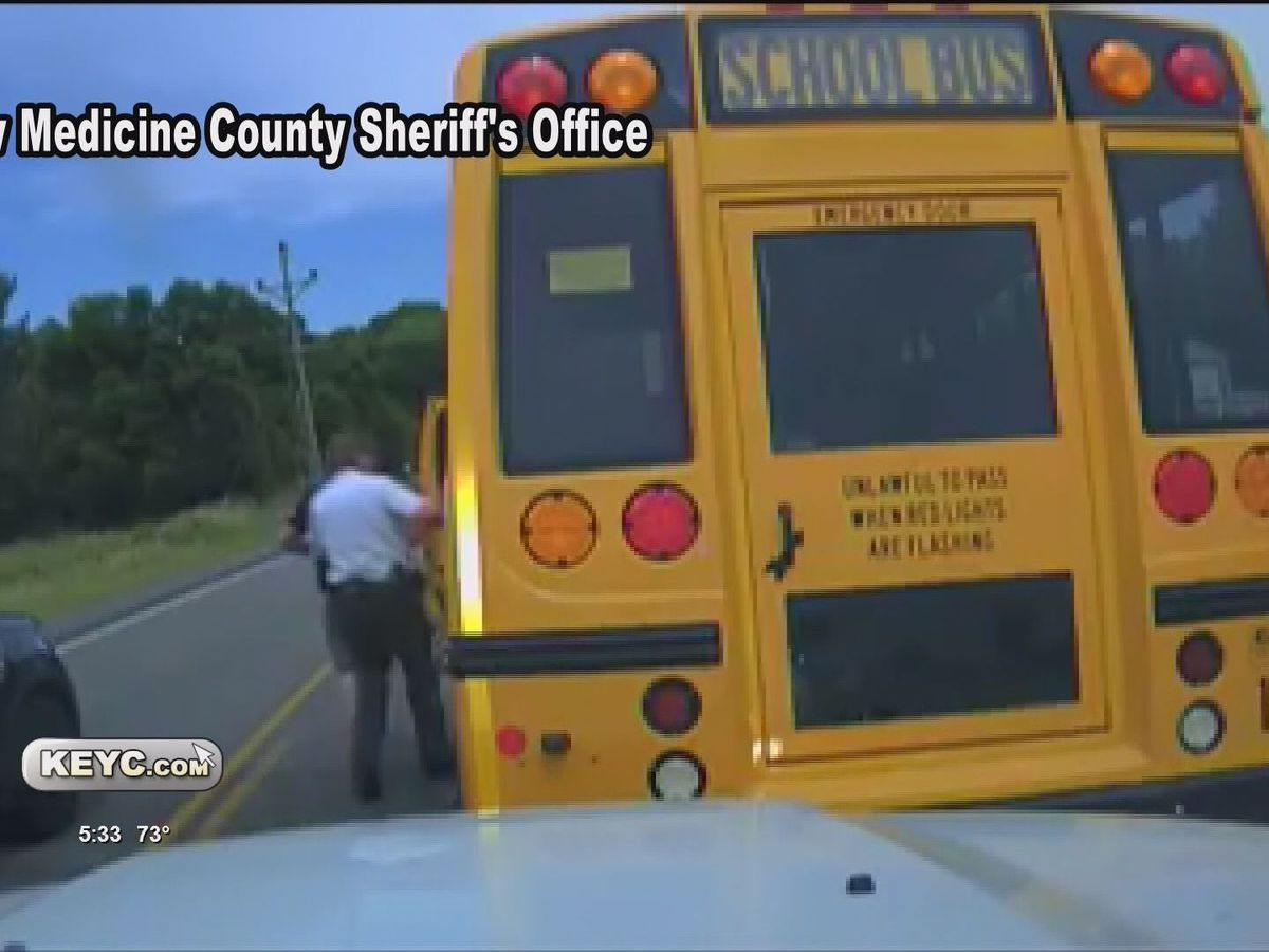 Runaway school bus halted in Granite Falls; driver condition unknown