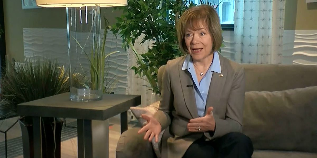Sen. Tina Smith pushes bill for free COVID-19 treatment, vaccine