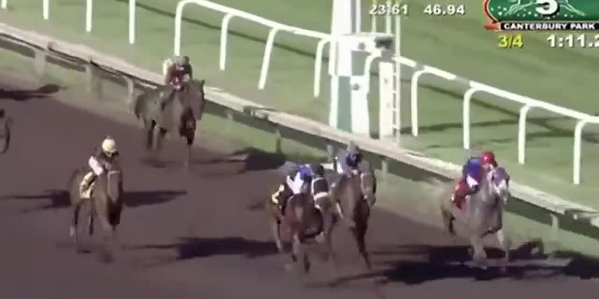 WEB XTRA: Horse race ends with unusual finish
