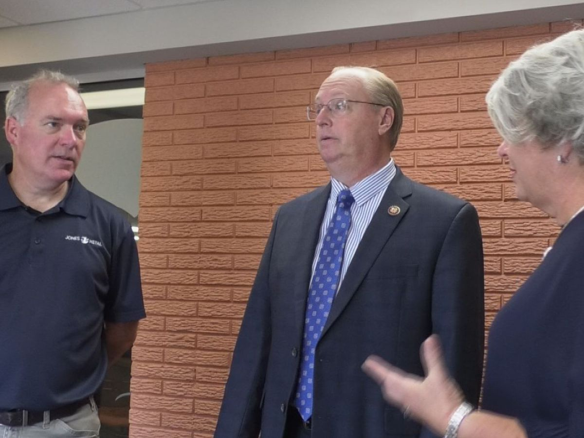 Congressman Jim Hagedorn visits Mankato's Jones Metal