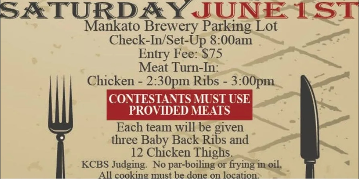 Mankato Brewery hosting BBQ cook-off June 1