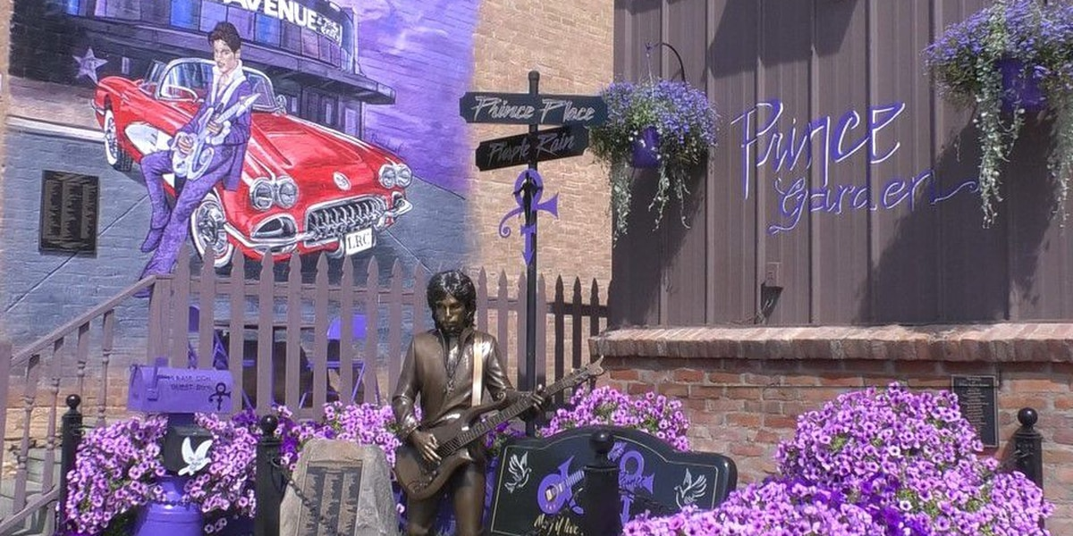 Prince statue completes memorial in town where Purple Rain was filmed