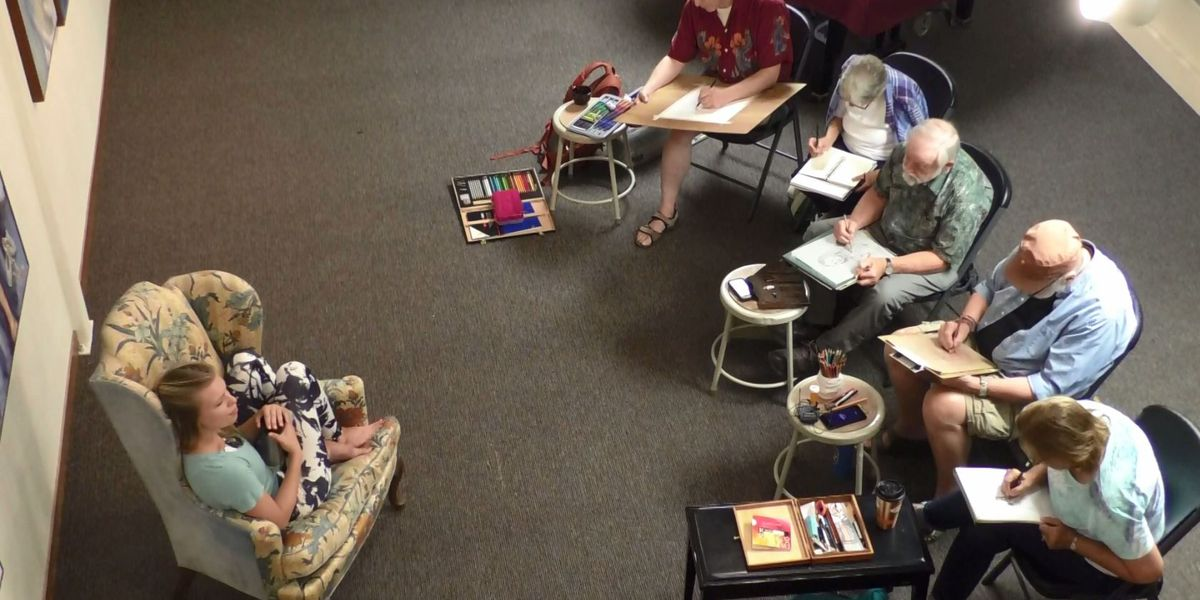 St. Peter drawing group makes friends and beautiful art