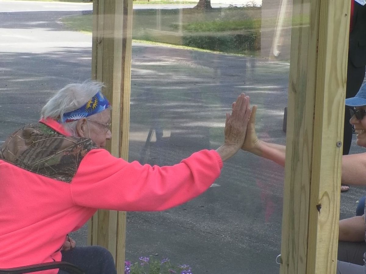 Area nursing homes get creative with outdoor visits