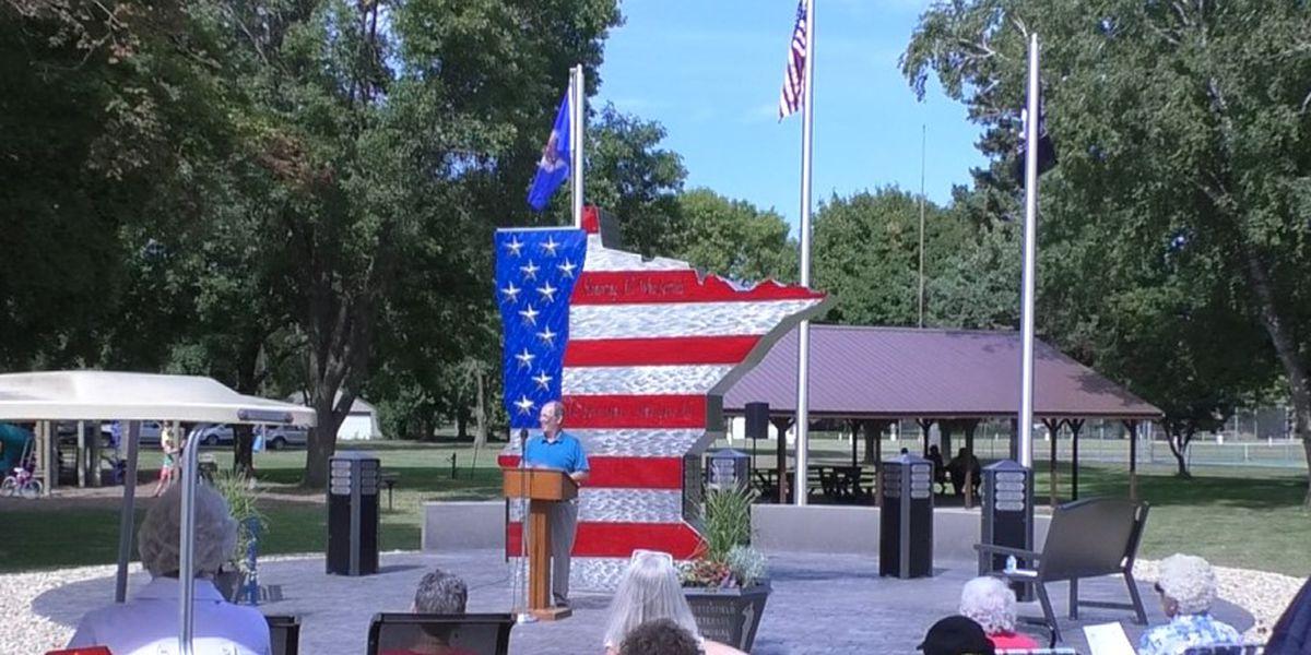 Town unveils new Veterans Memorial