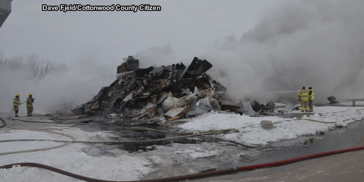 Warehouse in Windom is total loss after fire