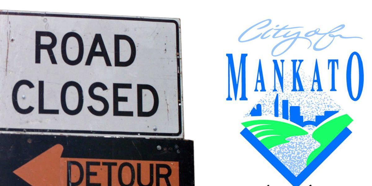 Multiple roads to close in Mankato Wednesday, Thursday