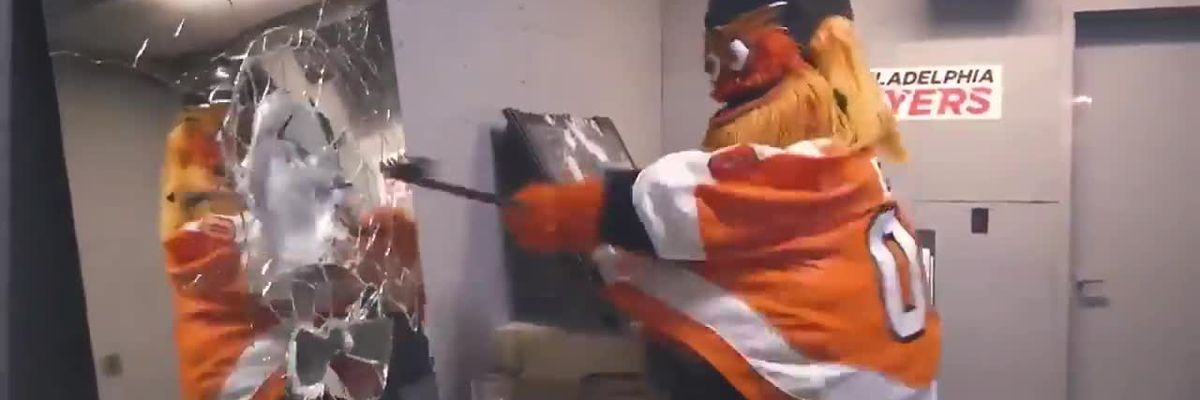 'Rage room' allows fans to smash stuff inside Philadelphia Flyers arena