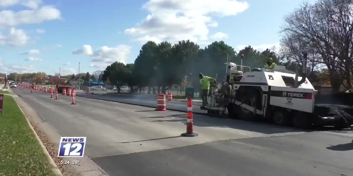 Paving on Commerce Drive nearly complete