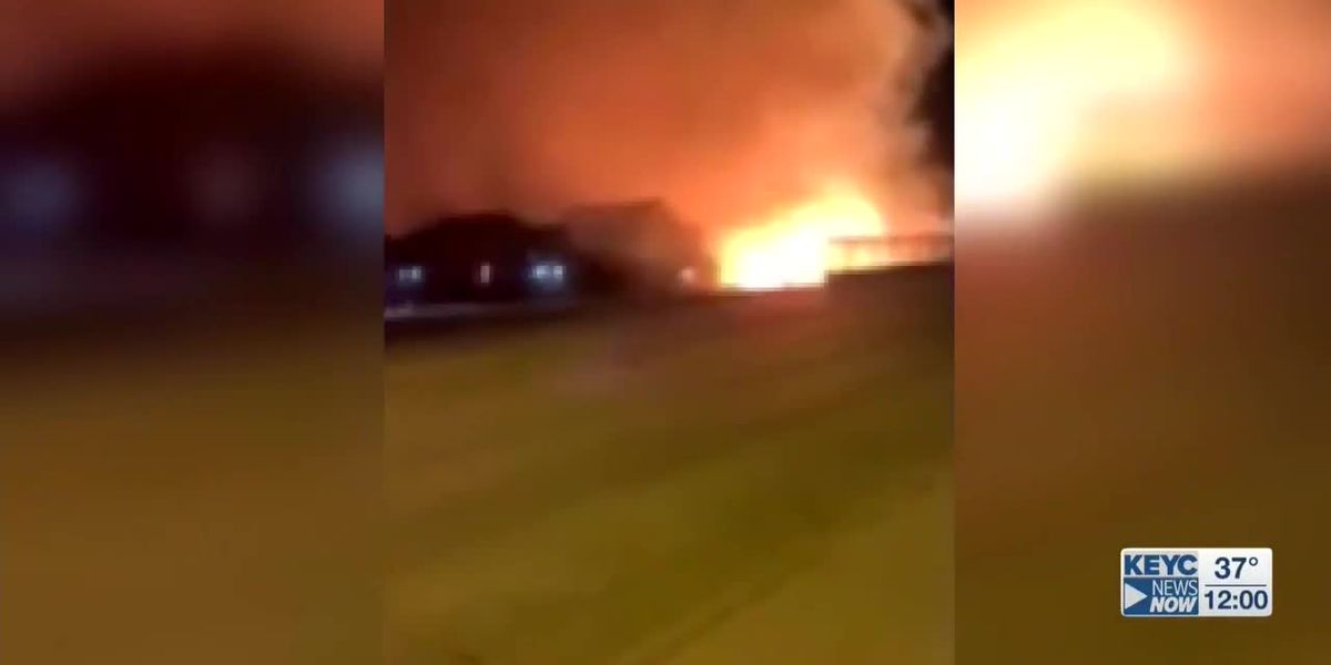 Warehouse fire prompts evacuation of residents