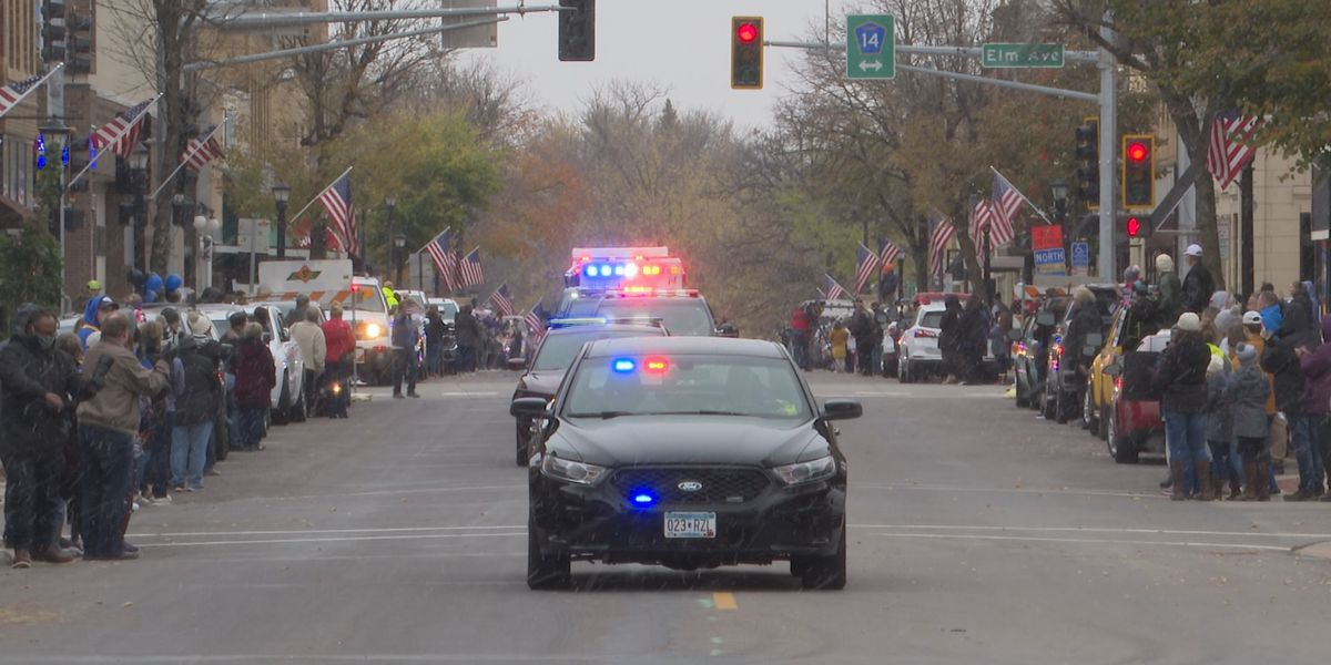 Officer Arik Matson returns to Waseca, recovering from shooting