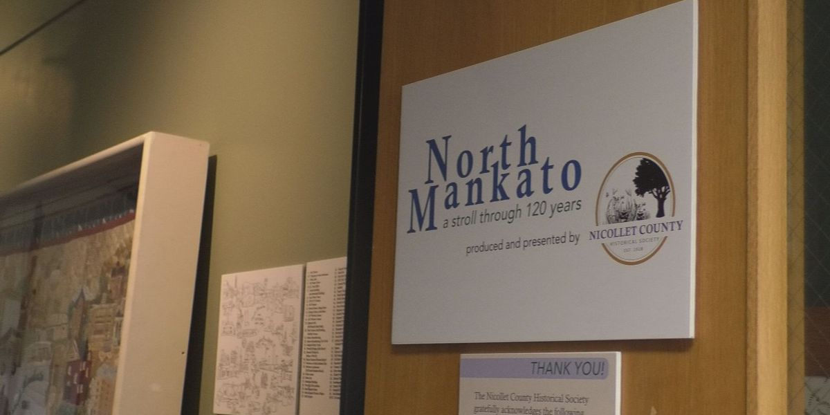 A stroll through North Mankato's 120 year history is officially on display at the Nicollet County Historical Society