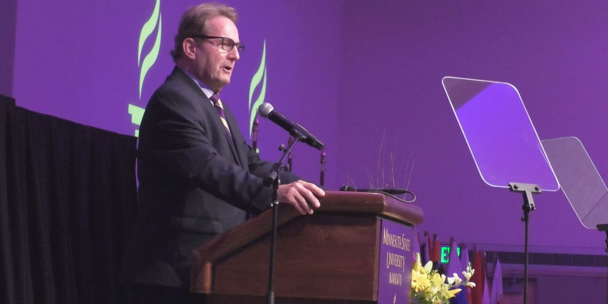 MSU, Mankato President discusses future projects, student retention and more during convocation speech