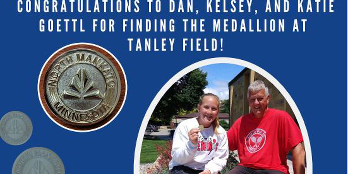 Winners for the North Mankato Medallion Hunt