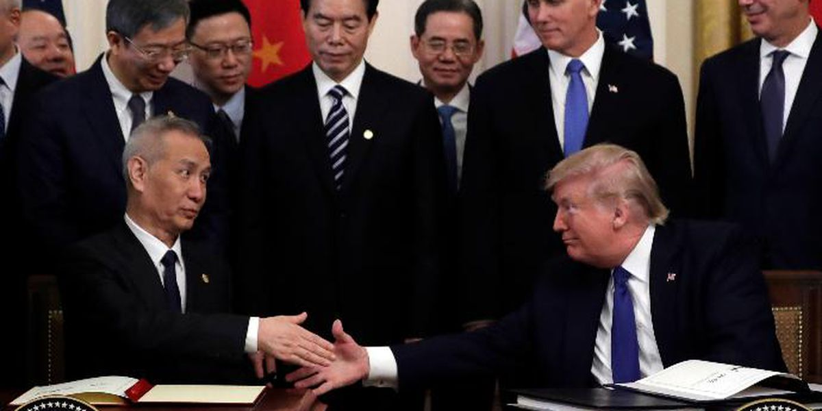 US, China sign deal aimed to ease trade tensions