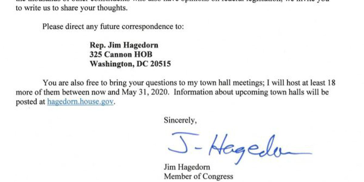 Congressman Jim Hagedorn puts end to meetings with Indivisible Group members at district office