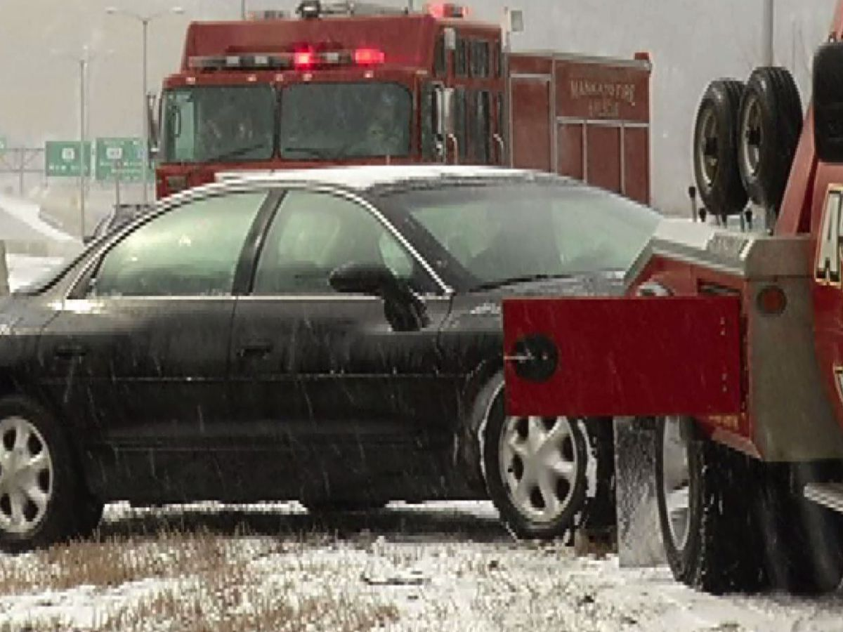 Mixed precipitation leads to crashes on Minnesota roads