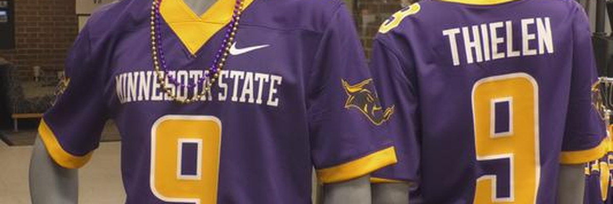 Adam Thielen's Minnesota State jersey now available for purchase on campus