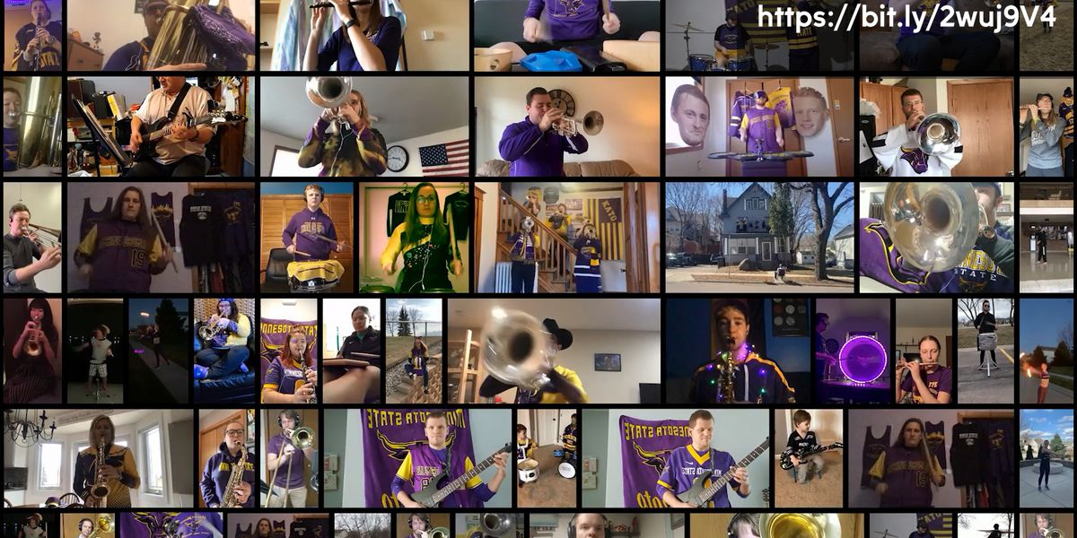 Minnesota State's Athletic Band lifts spirits with creative video