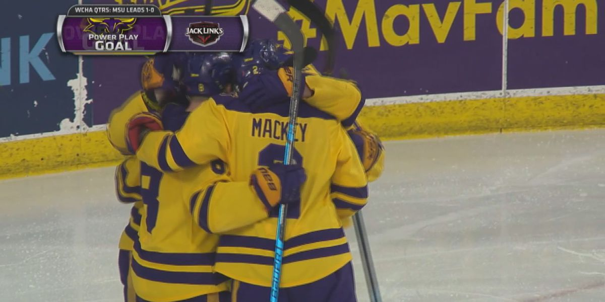 Mavericks advance to second round of WCHA playoffs