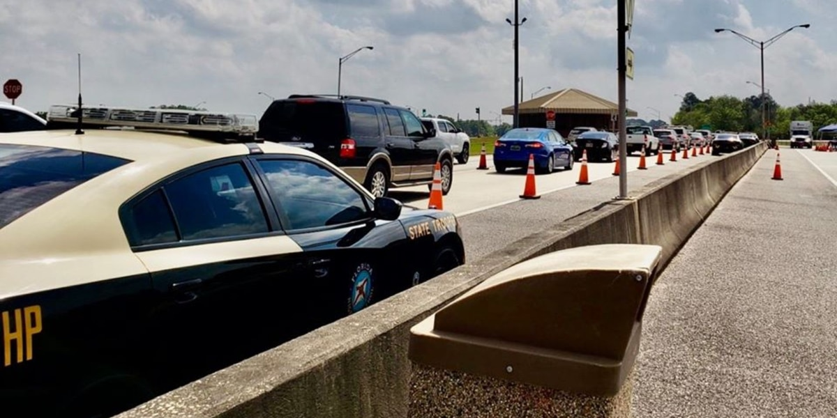 Drivers stopped at Florida checkpoint