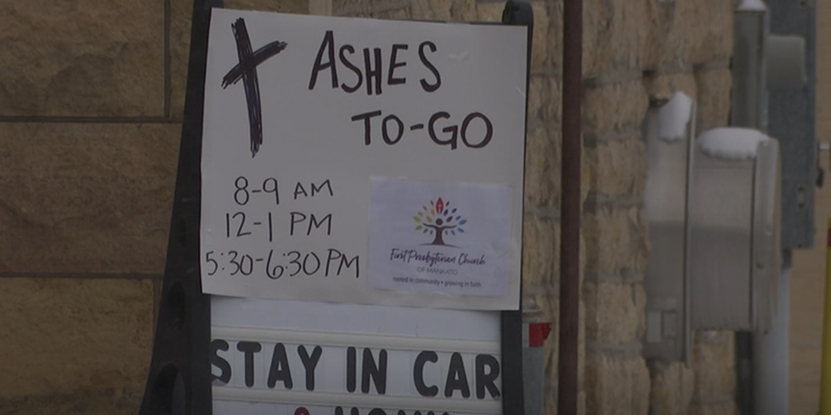 Church hosts drive through blessings for Ash Wednesday