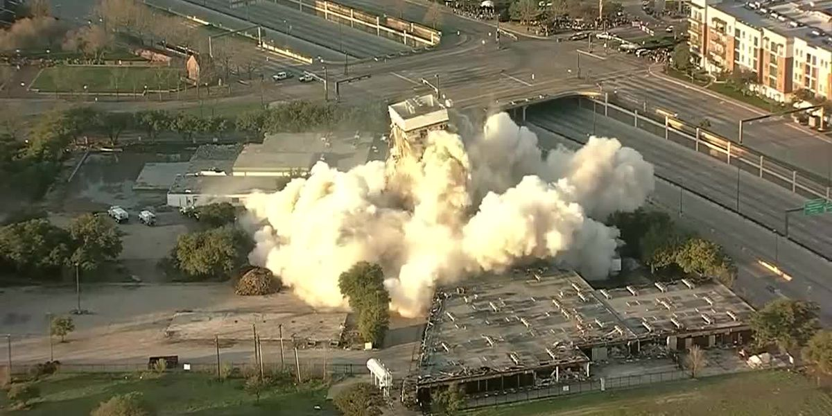 Oops! Implosion fails to fully topple tower in Texas