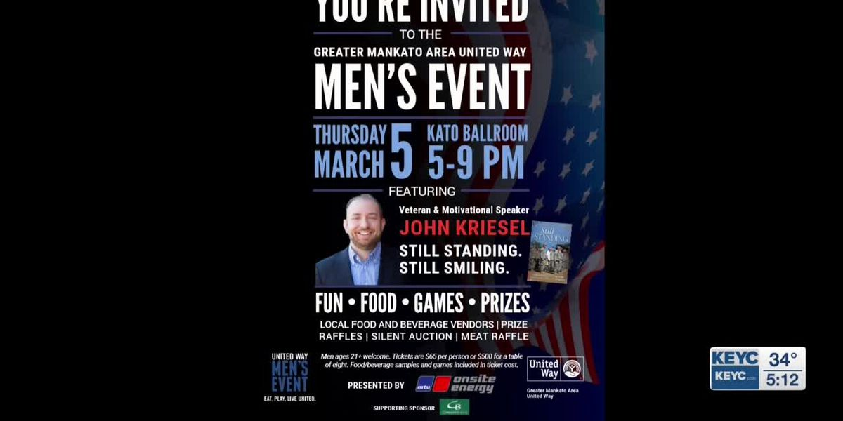 Tickets on sale for Men's Event; opportunities available for volunteers, sponsors