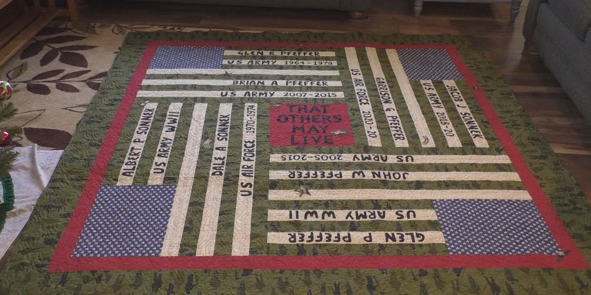 Creative gift honors past and present family military members
